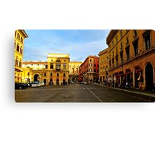 Rome at a Crosswalk Canvas Print
