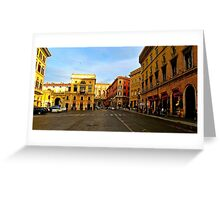 Rome at a Crosswalk Greeting Card