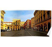Rome at a Crosswalk Poster