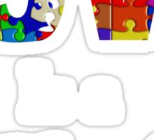love is a puzzle Sticker
