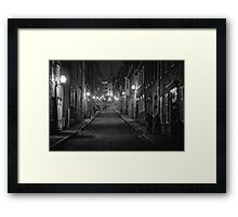 And here I come up the hill Framed Print