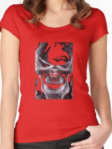 Alien Skull X-ray Women's Fitted Scoop T-Shirt