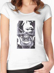 Alien Skull X-ray Women's Fitted Scoop T-Shirt