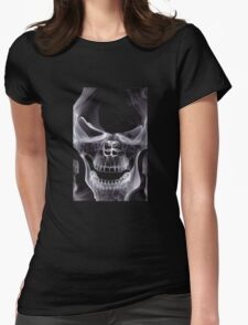 Alien Skull X-ray Womens Fitted T-Shirt