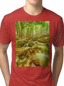 River flowing through rocks Tri-blend T-Shirt