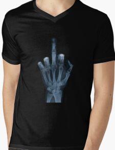 The Middle Finger Mens V-Neck T-Shirt