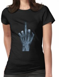 The Middle Finger Womens Fitted T-Shirt