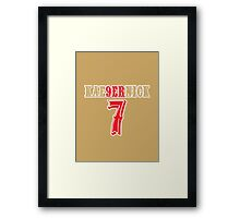[CLASSIC] KAE9ERNICK 7 - QB #7 Colin Kaepernick of the San Francisco 49ers Framed Print
