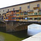 The Balconies Of The Ponte Vecchio by Fara