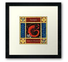 Scorpio (coloured) Framed Print