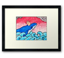 King of the Whales Framed Print