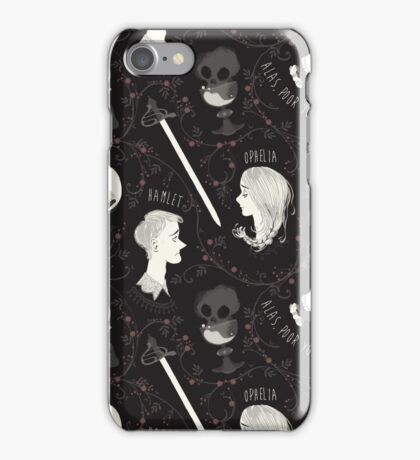 Shakespearean pattern - Hamlet iPhone Case/Skin