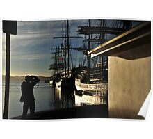 Tall Ships in Hobart Harbour Poster