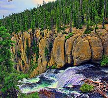 Terraced Falls - 2nd Tier - #1 by Brenton Cooper
