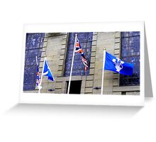 Flags flying on Armed Forces day  Greeting Card