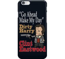 CLINT EASTWOOD. DIRTY HARRY iPhone Case/Skin