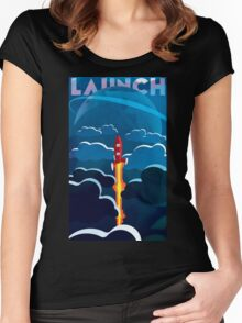 Launch! Women's Fitted Scoop T-Shirt