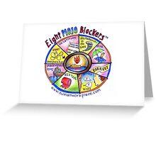 Eight Mojo Blockers Poster Greeting Card