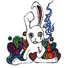 Hookah Smoking Rabbit by Octavio Velazquez