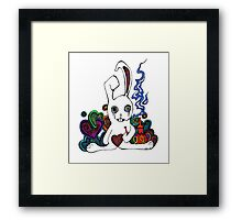 Hookah Smoking Rabbit Framed Print
