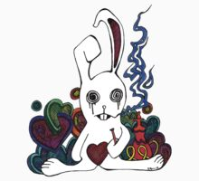 Hookah Smoking Rabbit Kids Clothes