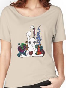 Hookah Smoking Rabbit Women's Relaxed Fit T-Shirt