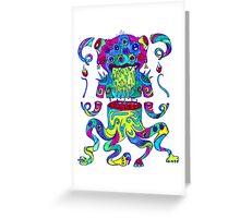 Sliced Monster Greeting Card