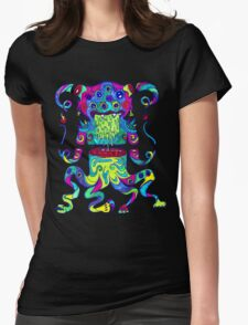 Sliced Monster Womens Fitted T-Shirt