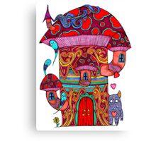 Mushroom House III Canvas Print