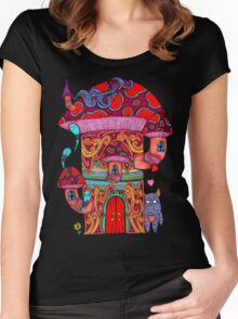 Mushroom House III Women's Fitted Scoop T-Shirt