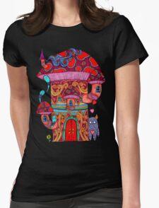 Mushroom House III Womens Fitted T-Shirt