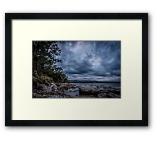 Dolphins had put on a show here and this is the stage Framed Print