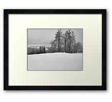 The Ski Hill Framed Print
