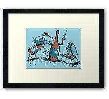 Bar Fight Framed Print