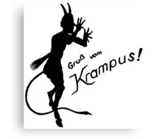 Krampus 24 Black Canvas Print