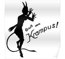 Krampus 24 Black Poster