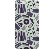 Pattern with various stylish hipster clothes and accessories iPhone Case/Skin
