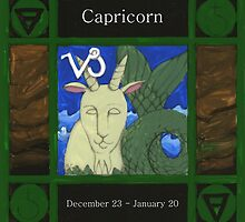Capricorn Coloured Version by Donna Huntriss