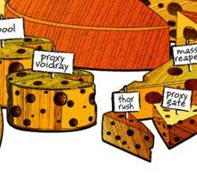 Cheese anyone white Sticker