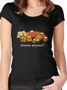 Cheese anyone white Women's Fitted Scoop T-Shirt
