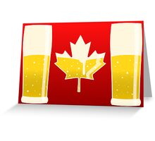 Canada Flag Beer Greeting Card