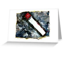 Red matchstick Greeting Card