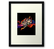 Flaming Fairytail Framed Print