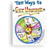 Ten Ways to Get Unstuck Canvas Print