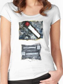 Red matchstick Women's Fitted Scoop T-Shirt