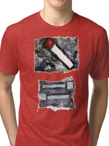 Red matchstick Tri-blend T-Shirt
