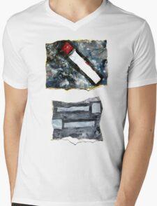 Red matchstick Mens V-Neck T-Shirt