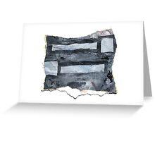 Grey matchsticks Greeting Card