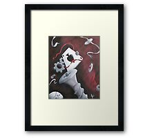 Three of Clubs Framed Print