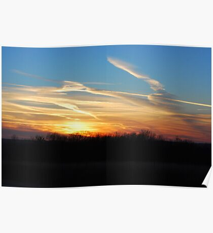 Eastern Kansas Sunset Poster
